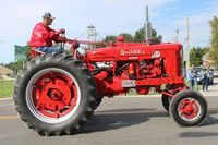 Jim Couch on his Farmall