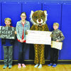 Pictured left to right:  Preston Dreisewerd, Jamie-Lynn Haley, Tiger mascot Kaylee Beckham, and Jackson Hathaway.
