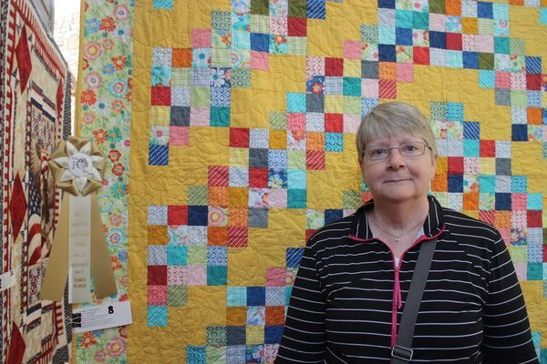 Sue Ann Winking 3d Place Wildflowers with 4 x 4 Quilt