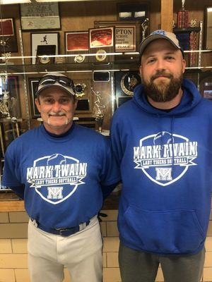 Danny Wilson and Jacob Bogue coached the 2019 softball Lady Tigers.