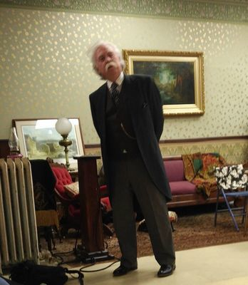 Richard Garey as Mark Twain talks to the Hannibal Writer's Guild about his writing process.