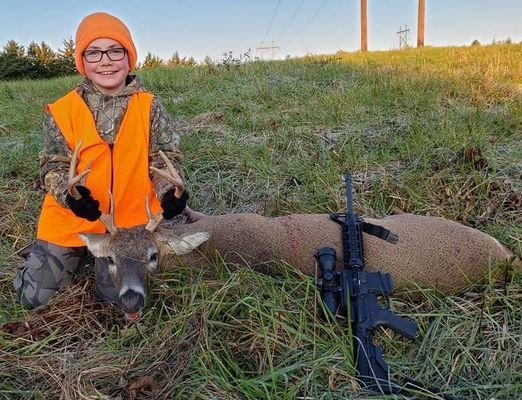 Zane Clarkson, son of Andy & Jerrilyn Clarkson, got his first deer!