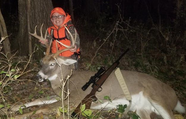 Luke Parker, son of Cody & Erin Parker of Center, sat for 10 hours and It paid off!