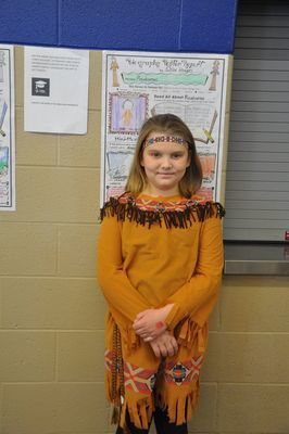 Chloe Hodges portrayed Pocahontas