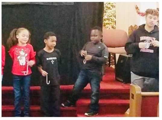 J is for Jesus - Ava Hinkebein, Ivan Deal, Maxwell Mitchell, and Messiah Mayfield.