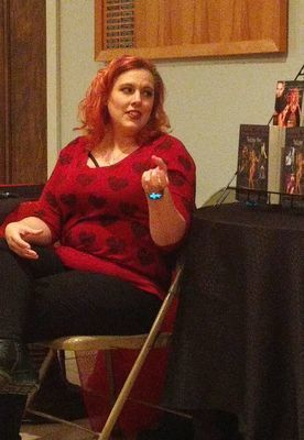 "Author Leigh Savage visits with the Hannibal Writers Guild for their ""Writing Love & Lust"" meeting February 8th."