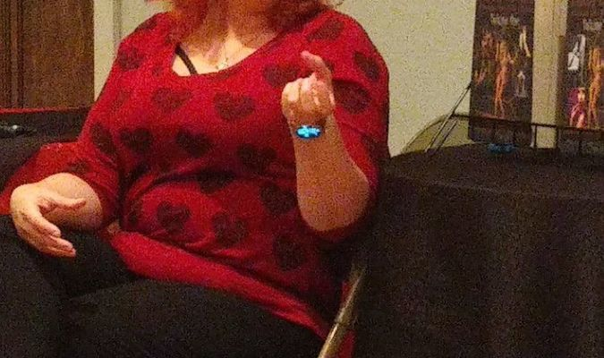 """Author Leigh Savage visits with the Hannibal Writers Guild for their """"Writing Love & Lust"""" meeting February 8th."""