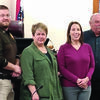 Shelby County Elected officials who were voted into office during the November election were sworn in Monday morning at the Shelby County Courthouse. They are (from left to right) Corey Eagan, Coroner; Arron Fredrickson, Sheriff; Susan Wilt, Public Administrator; Liz Miles, Assessor; Terry Mefford, Western District Commissioner; and Tom Shively, Eastern District Commissioner. They were sworn in by Shelby County Clerk Stephanie Bender.  Submitted Photo