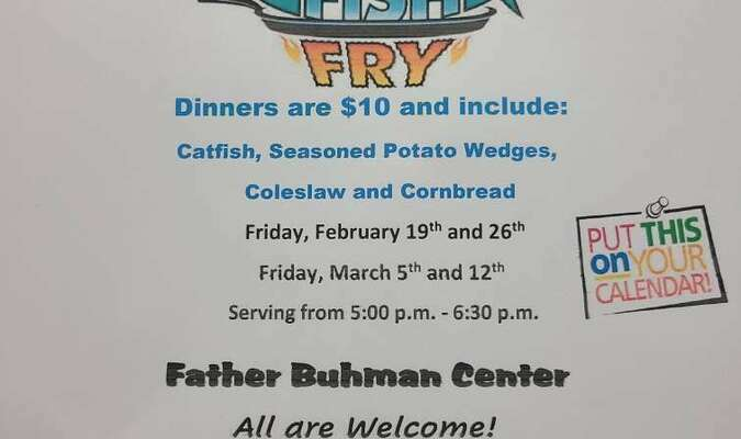 Here is the correct information on the Knights of Columbus Fish Fry set for this Friday. The ad in the paper had the wrong information. Please share this with as many people as you can. Thanks!