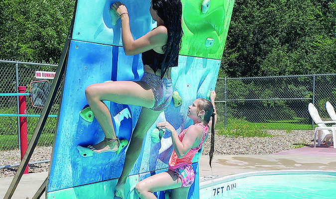 The Shelbina Aquatic Center has been a popular place for people of all ages again this summer. With COVID-19, there have been some restrictions, but overall the fun has continued.                        Photo by Thad Requet, Shelbina Weekly