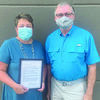 Shelby County Presiding Commissioner Glenn Eagan presented a proclamation to Shelby County Health Director Audrey Gough and the Shelby County Health Department for their work during the COVID-19 Pandemic.	Gough received the proclamation on Tuesday, Aug. 25.