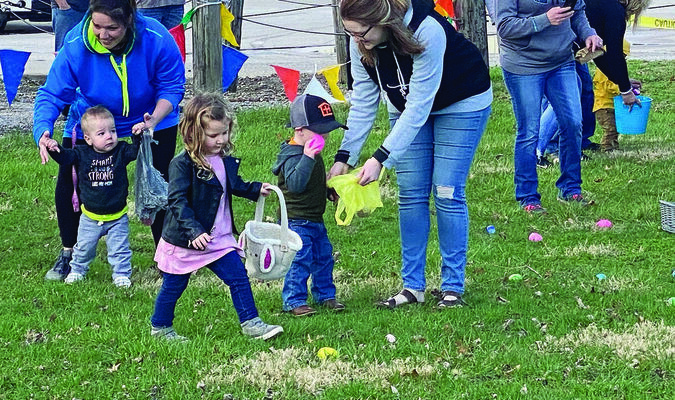 An Easter Egg Hunt was held Saturday morning in the Shelbina Library Park. The event was a part of the Shelbina Baptist Church's Revival Week that took place last week. 					              Photo by Mark Requet, Shelbina Weekly