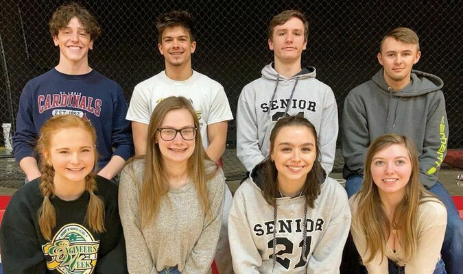 South Shelby prom candidates are pictured above. They are (front row, left to right) Millie Gough, Sara Stoner, Josie Ratliff and Joey Jones  (Back row) Cooper Stevenson, David Fenton, Phillip Dodd and Shaun Wilkerson. The South Shelby Prom will be held this Saturday night in the High School Gym. Grand March will begin in the Middle School at 6 p.m.		                            Submitted Photo