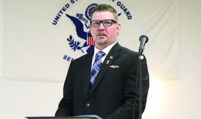 Aaron Kendrick was the featured speaker at the annual American Legion Teachenor Post 376 Memorial Day Service that was held on Monday morning. There was a large crowd  on hand to celebrate the day.Gale Buckman was the Master of Ceremonies for the event. Photo by Mark Requet, Shelbina Weekly