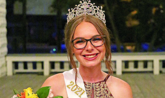 Christine Miles was crowned the 133rd Old Settlers Reunion Queen on Thursday, July 22. She is the 16-year-old daughter of Joey and Kim Miles, of Bethel.            Photo by Marlana Smith, Shelby County Herald