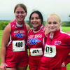 South Shelby Cross Country runners are pictured above (from left to right). They are Emma Wilt, Victoria Escamilla and Tadara Rufener. 	    Submitted Photo