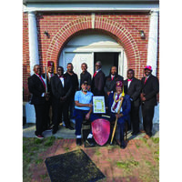 """Charlie Davis, Jr. Lodge No. 255 of The Knights of Pythias held their Charter Service and Ceremony on May 23, 2021 in Cheraw, SC. The Lodge was named in the honor of Past Grand Chancellor of North Carolina Sir Knight Charlie Davis, Jr. Past Grand Chancellor Charlie Davis, Jr. was present. """"I feel honored and cherish this moment of history  in my life and this Fraternal Order's History and Destiny,"""" said Past Grand Chancellor of North Carolina Sir Charlie Davis, Jr. Pictured from left to right front: Vice Chancellor of Charlie Davis, Jr. Lodge No. 255 Sir Clarence Collins, Past Grand Chancellor of North Carolina and Honoree Charlie Davis, Jr.  Pictured from left to right 2nd Row : Sir Lacy Washington,Chancellor Commander of the Charlie Davis, Jr. Lodge no. 255 Sir Knight Pierre Steevenson, Sir Hubert McFadden, Sir Anthony Hickman, Sir Everett Sanders, Sir Joe Edwards. Back Row: Grand Chancellor of South Carolina Kevin N. Brown, Sir Martel Short, Sir Martel Short, not pictured, was Chancellor Commander of Lake City Lodge No. 245  Sir Knight Fernader Barr and Sir Terry Bridges. The Order of the Knights of Pythias is a great international fraternity, which was founded in Washington, DC, February 19, 1864, by Justus H Rathbone. The first African-American Pythian Lodge was organized by Dr. Thomas W. Stringer in Vicksburg, Mississippi, in April, 1880 and known as Lightfoot Lodge No.1. The Order is based upon the story of Damon and Pyhtias, two very close friends during ancient Greek history. The Fraternal Order of Knights of Pythias and its members are dedicated to the cause of universal peace. Pythians are pledged to the promotion of understanding among men of good will as the surest means of attaining Universal Peace. Pyhtians across the Nation have given student scholarships, after school programs, sports and recreation, bikes for boys and girls, and food baskets for people in need. Sir  Knight Chancellor Commander Stevenson Pierre and Sir Terry Bridges were a part of t"""