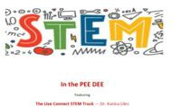 """STEM In The Pee Dee Youth Events S.C. Department of Commerce Regional Workforce hosts hosting """"STEM In The Pee Dee"""" with the purpose of exposing, and making youth more aware of the importance of preparing for careers in STEM.  Friday, July 16, 2021 Florence Boys & Girls Club 9:00AM - 11:00AM Hartsville Boys & Girls Club 1:00PM - 3:00PM  Monday, July 19, 2021 Dillon - NETC Trailblazer Camp 8:30AM - 11:30AM  Tuesday, July 20, 2021 Chesterfield/Marlboro - NETC Trailblazer Camp 8:30AM - 11:30AM  Thursday, July 22, 2021 Marion - Eloise Grice Recreation Center 9:00AM - 11:00AM  Friday, July 23, 2021 Lake City Boys & Girls Club 9:00AM - 11:00AM Hemingway Boys & Girls Club 1:00PM - 3:00PM"""