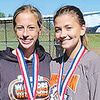 Cora Hill and Brooklyn McAllister BROOKLYN PLACED 3RD at the Cross Country Conference meet and Cora Hill placed 5th. Wesclin girls placed third.