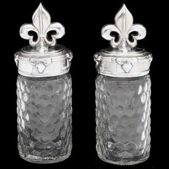 Arthur Court Fleur-De-Lis Salt & Pepper Set