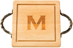 Maple Leaf at Home Monogrammed Square Cutting Board