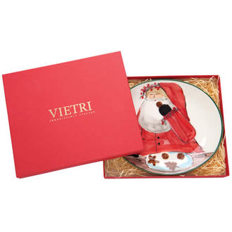 Vietri Dinnerware - Old St. Nick Boxed Cookie Plate