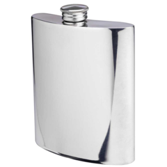 Engraved Pewter Hip Flask (RCT217)