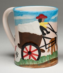 Clementine Hunter Cotton Mural Mug (CH-3600)
