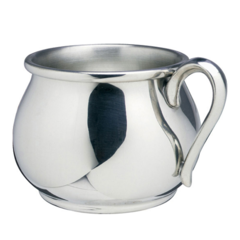 Engraved Pewter Bulged Baby Cup 5 oz (SCBBC)