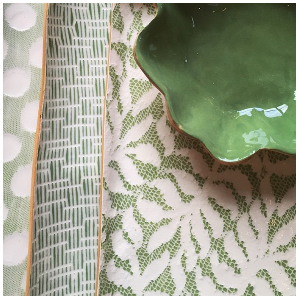 Terrafirma Ceramics > Fern Citrus > Square Dip Bowl