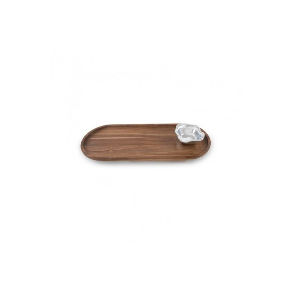 Beatriz Ball > Vento > Cutting Board Oval with Organic Pearl Bowl (dark wood)