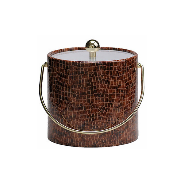 Mr Ice Bucket > Mahogany Croc Skin Ice Bucket