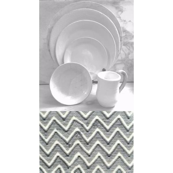 Terrafirma Ceramics > Black > Medium Chevron Bowl