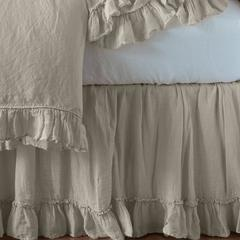 Bella Notte Linens Linen Whisper Bed Skirt - Cal/East King, Full/Queen or Twin