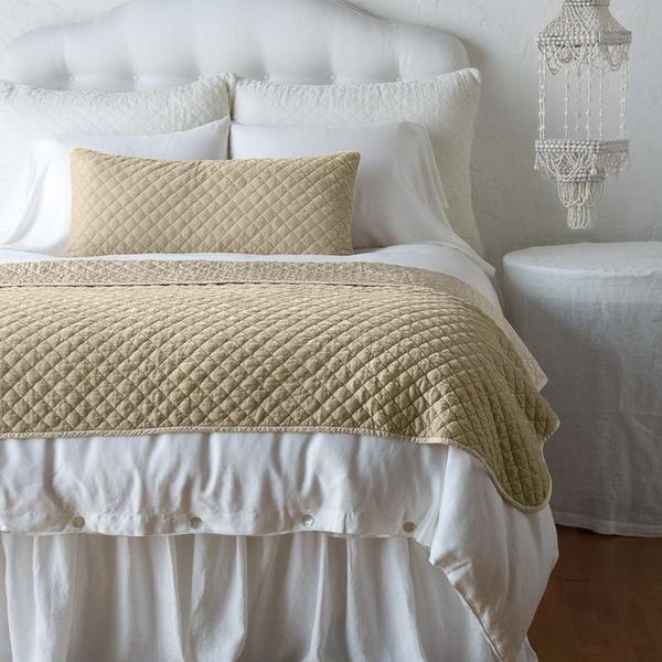 Bella Notte Linens Silk Velvet Quilted Large Throw Blanket
