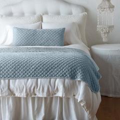 Bella Notte Linens Silk Velvet Quilted Lumbar Pillow