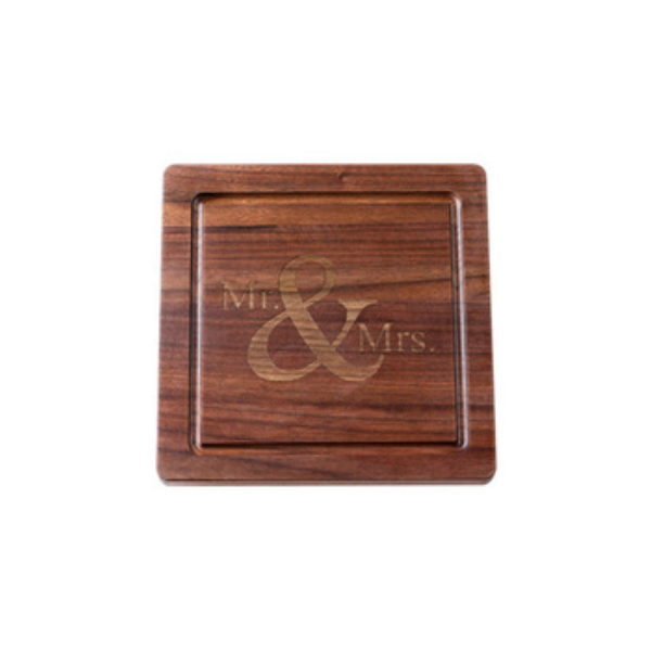 "Maple Leaf at Home > Walnut 12"" Square Board No Handles"