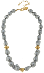 Susan Shaw Jewelry Baroque Pearl Necklace