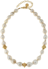Susan Shaw Jewelry Baroque Freshwater Pearls Gold Bead Necklace (3406G)
