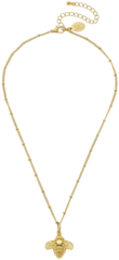 Susan Shaw Jewelry Gold Bee Necklace (3201G)