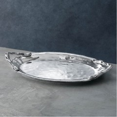 Beatriz Ball Pearl Denisse Oval Tray with Handles (6991)