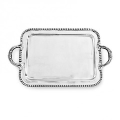 Beatriz Ball Pearl Medium Handled Tray (5818)