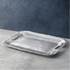 Beatriz Ball Crocodile Rectangle Tray w/Handles (7002)