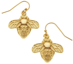 Susan Shaw Jewelry Gold Bee Earrings (1210WR)