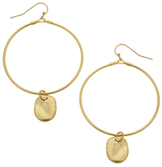 Susan Shaw Jewelry Gold Oval & Round Hoop Earrings (1806RD)