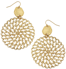Susan Shaw Jewelry Gold and Filigree Earrings (1842)