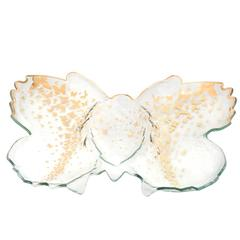 Annieglass Butterfly Chip & Dip Server (B200G)