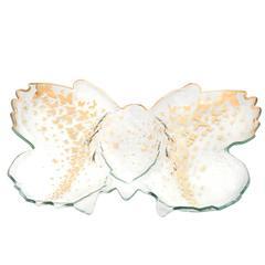 Annieglass Butterfly Chip & Dip Server (B200G)