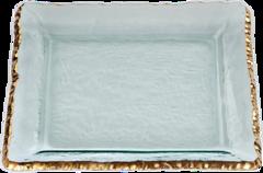 Annieglass Edgey Square Platter (E203G)