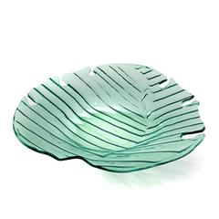 Annieglass Leaves Palm Frond Large Platter (L304GR)